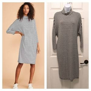 Lou & Grey Striped Turtleneck Dolman Dress